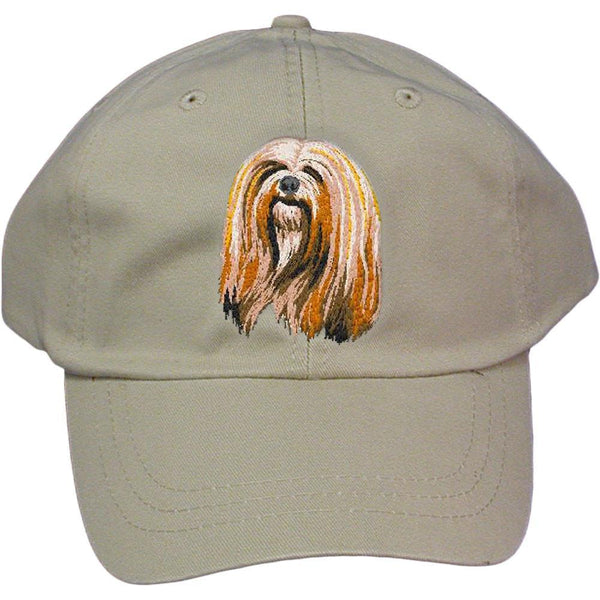 Embroidered Baseball Caps Grey  Lhasa Apso DM161