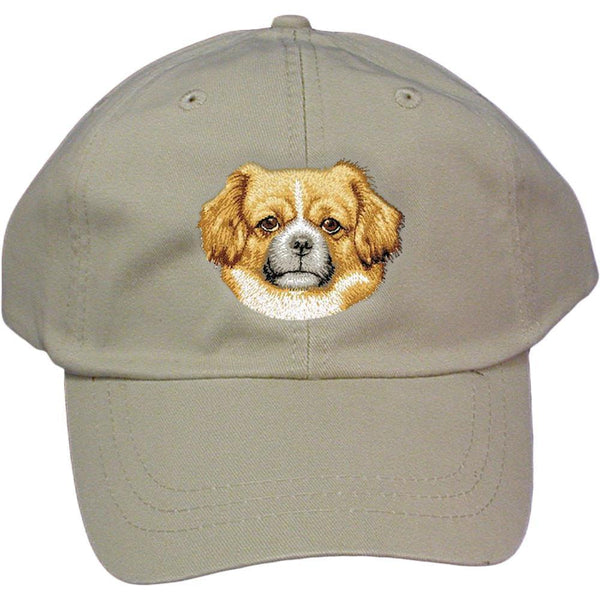 Embroidered Baseball Caps Grey  Tibetan Spaniel D87