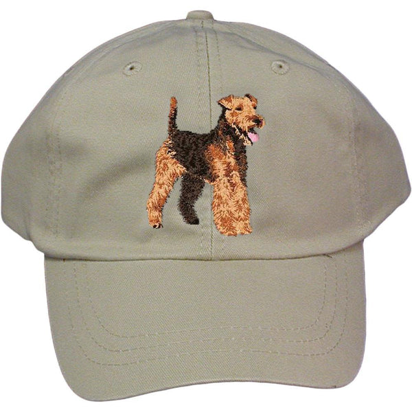 Embroidered Baseball Caps Grey  Welsh Terrier DJ241
