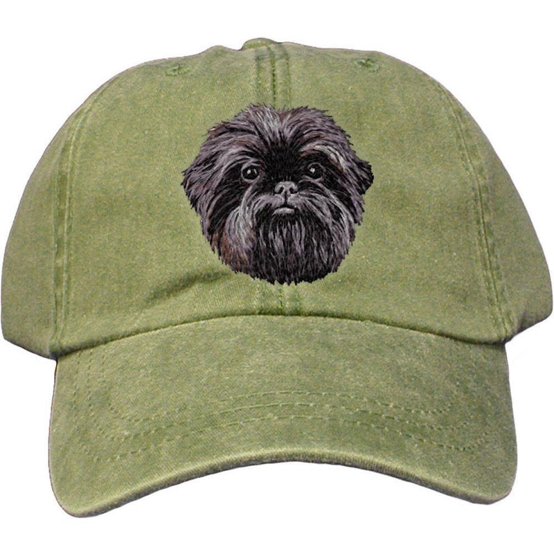 Embroidered Baseball Caps Green  Affenpinscher DM488