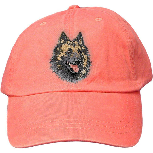 Embroidered Baseball Caps Peach  Belgian Tervuren DV220