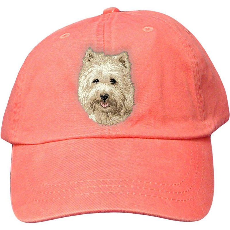 Embroidered Baseball Caps Peach  Cairn Terrier D106