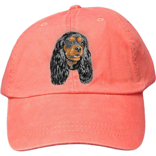 Embroidered Baseball Caps Peach  Cavalier King Charles Spaniel DV317