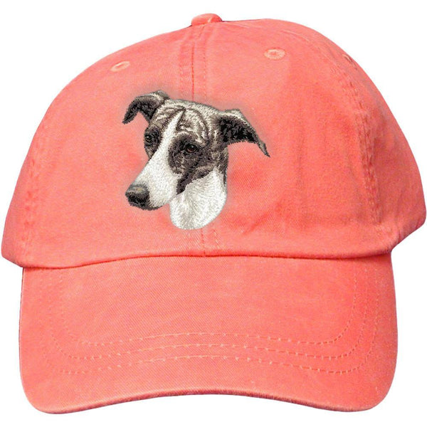 Embroidered Baseball Caps Peach  Greyhound D69