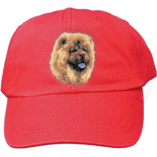 Embroidered Baseball Caps Red  Chow Chow D118