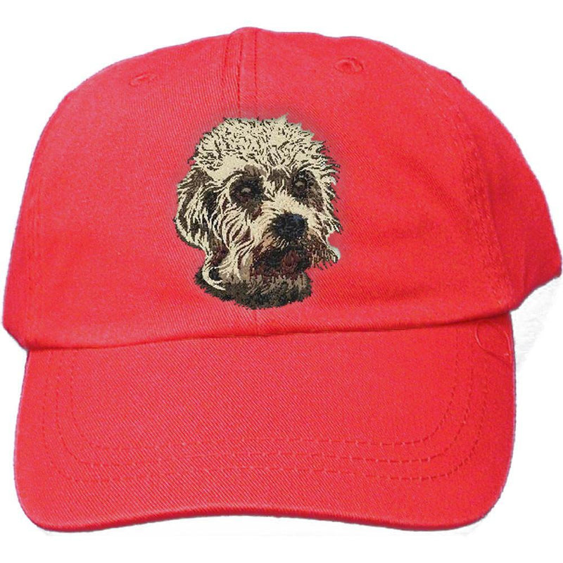 Embroidered Baseball Caps Red  Dandie Dinmont Terrier DJ299