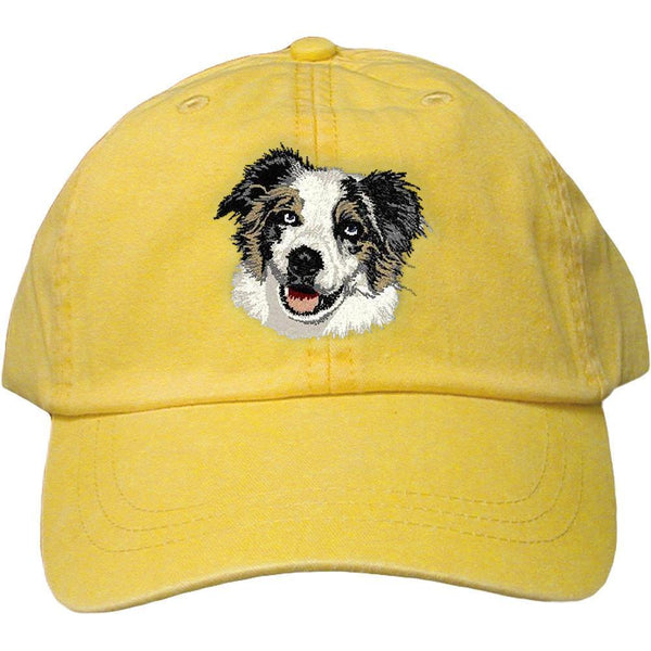 Embroidered Baseball Caps Yellow  Australian Shepherd DV164