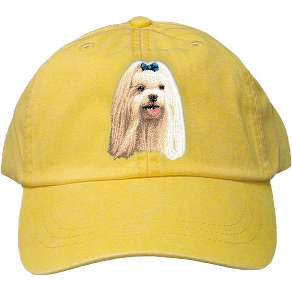 Embroidered Baseball Caps Yellow  Maltese D64