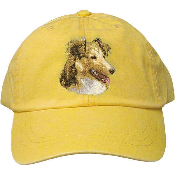 Embroidered Baseball Caps Yellow  Shetland Sheepdog D84