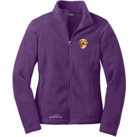 Golden Retriever Embroidered Ladies Fleece Jackets