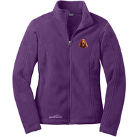 Irish Setter Embroidered Ladies Fleece Jackets