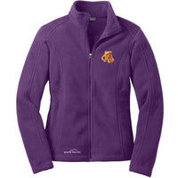 Irish Terrier Embroidered Ladies Fleece Jackets