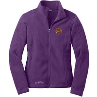 Newfoundland Embroidered Ladies Fleece Jacket
