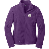 Tibetan Terrier Embroidered Ladies Fleece Jackets