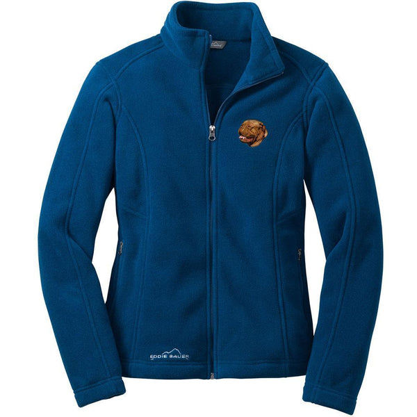 Dogue de Bordeaux Embroidered Ladies Fleece Jackets