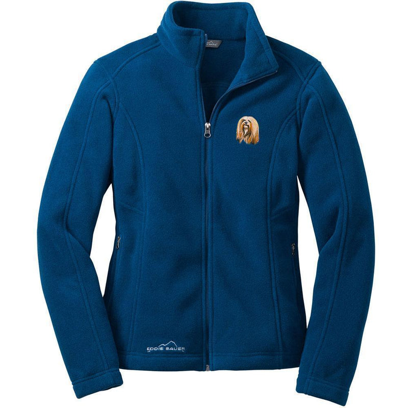 Lhasa Apso Embroidered Ladies Fleece Jackets