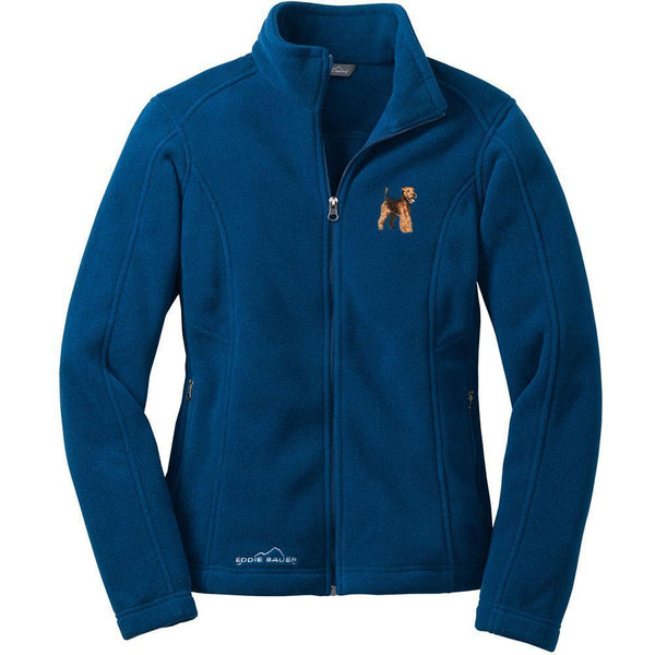 Welsh Terrier Embroidered Ladies Fleece Jackets