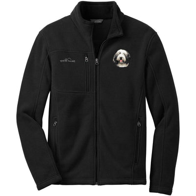 Bearded Collie Embroidered Mens Fleece Jackets