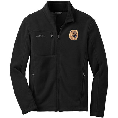 Chow Chow Embroidered Mens Fleece Jackets
