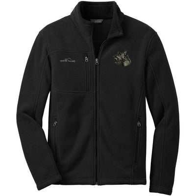 Scottish Terrier Embroidered Mens Fleece Jackets