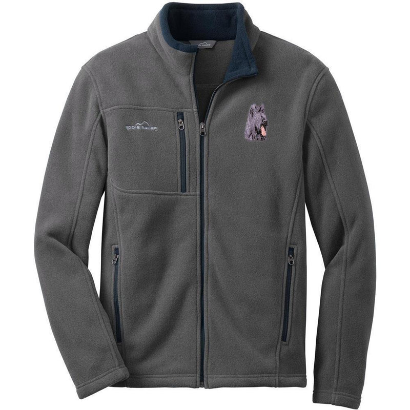 Embroidered Mens Fleece Jackets Gray 2X Large Briard D72