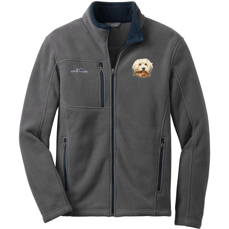 Embroidered Mens Fleece Jackets Gray 2X Large Havanese DV372