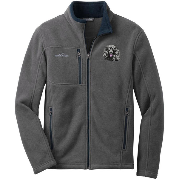 Embroidered Mens Fleece Jackets Gray 2X Large Portuguese Water Dog DM452