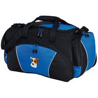 Parson Russell Terrier Embroidered Duffel Bags