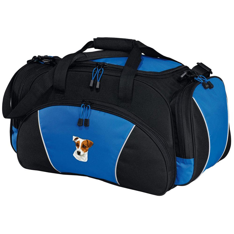 Embroidered Duffel Bags Royal Blue  Parson Russell Terrier D26