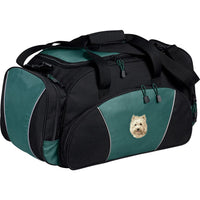 Cairn Terrier Embroidered Duffel Bags