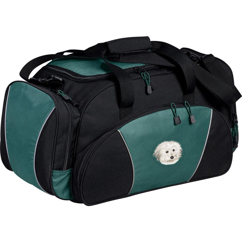 Embroidered Duffel Bags Hunter Green  Coton de Tulear DV217