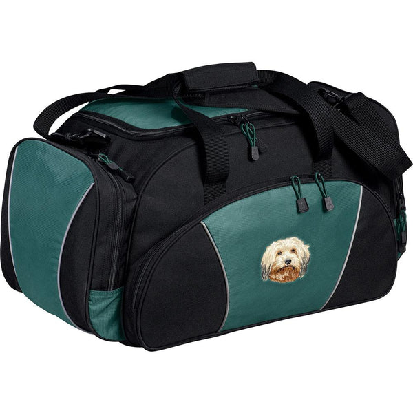 Embroidered Duffel Bags Hunter Green  Havanese DV372