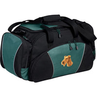 Irish Terrier Embroidered Duffel Bags