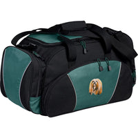 Lhasa Apso Embroidered Duffel Bags