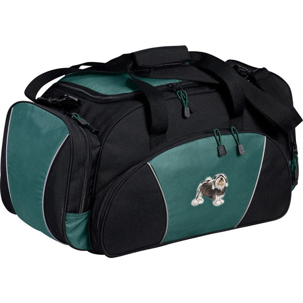 Embroidered Duffel Bags Hunter Green  Lowchen DJ325