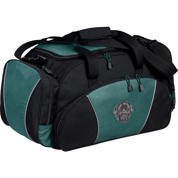 Embroidered Duffel Bags Hunter Green  Mastiff D135