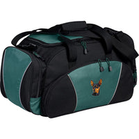Miniature Pinscher Embroidered Duffel Bags