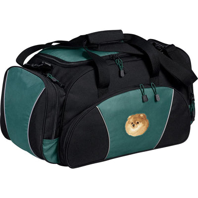 Pomeranian Embroidered Duffel Bags