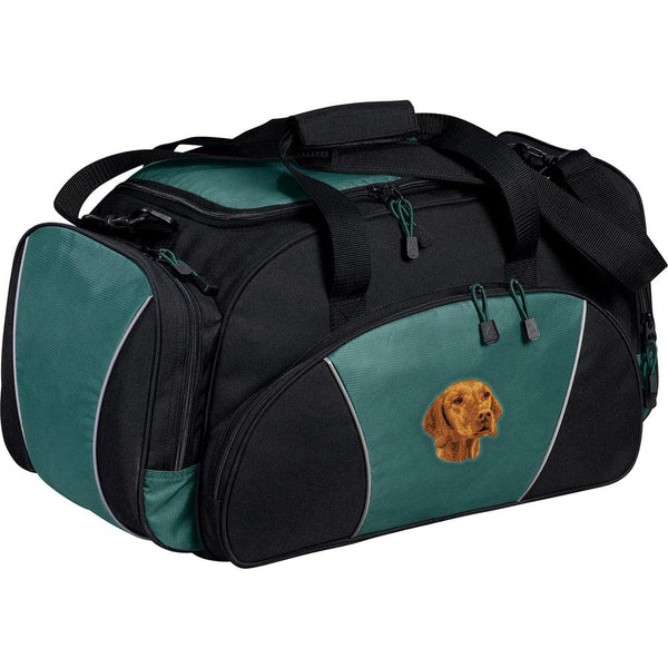 Embroidered Duffel Bags Hunter Green  Vizsla D93