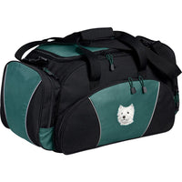 West Highland White Terrier Embroidered Duffel Bags