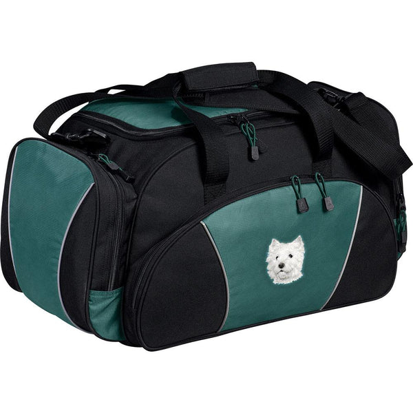 Embroidered Duffel Bags Hunter Green  West Highland White Terrier D126