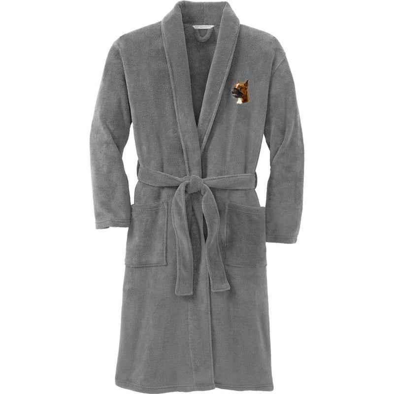 Port Authority Plush Microfleece Robe Deep Smoke Large/X-Large Boxer D19