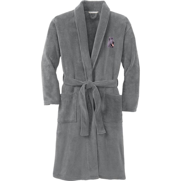 Port Authority Plush Microfleece Robe Deep Smoke Large/X-Large Briard D72