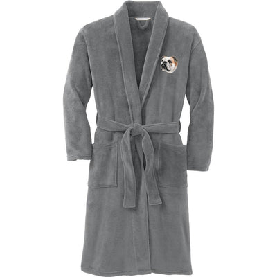 Bulldog Plush Microfleece Robe