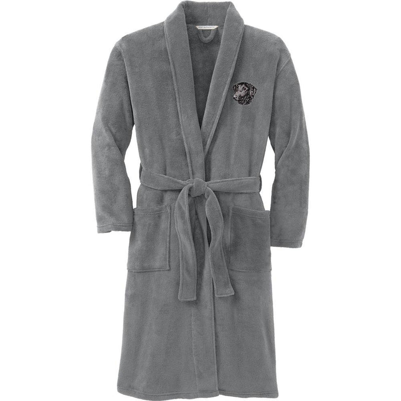 Port Authority Plush Microfleece Robe Deep Smoke Large/X-Large Curly Coated Retriever D137