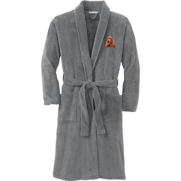 Port Authority Plush Microfleece Robe Deep Smoke Large/X-Large English Cocker Spaniel D28