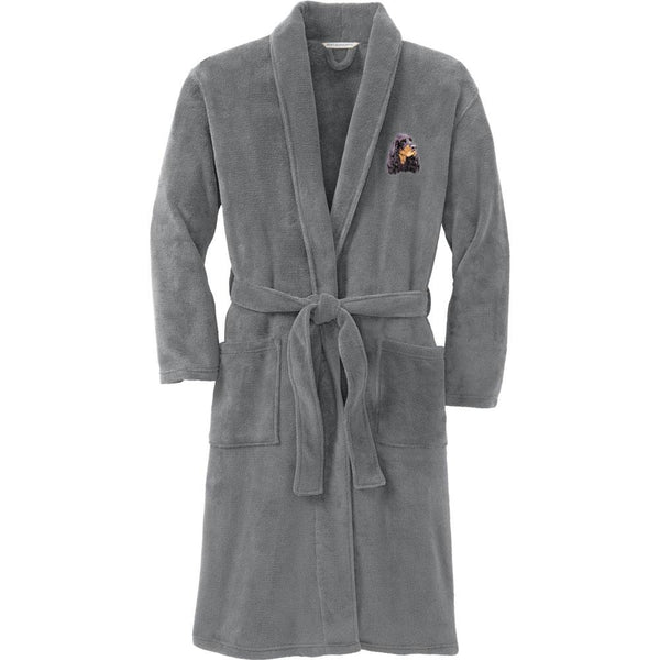 Port Authority Plush Microfleece Robe Deep Smoke Large/X-Large Gordon Setter D78