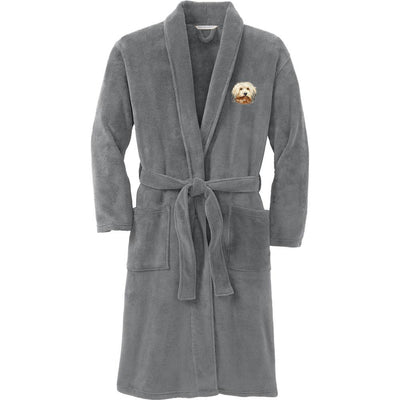 Havanese Plush Microfleece Robe