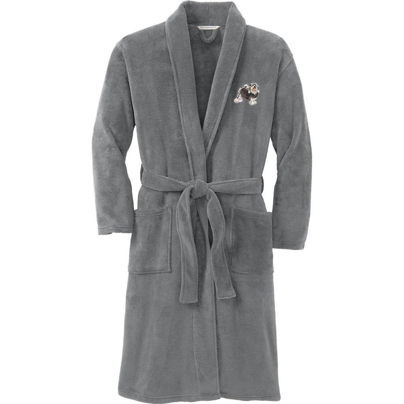 Port Authority Plush Microfleece Robe Deep Smoke Large/X-Large Lowchen DJ325