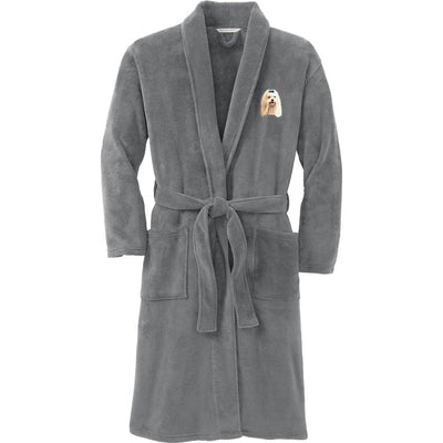 Maltese Plush Microfleece Robe